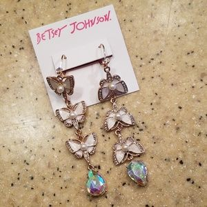 NWT Betsey Johnson Butterfly Earrings